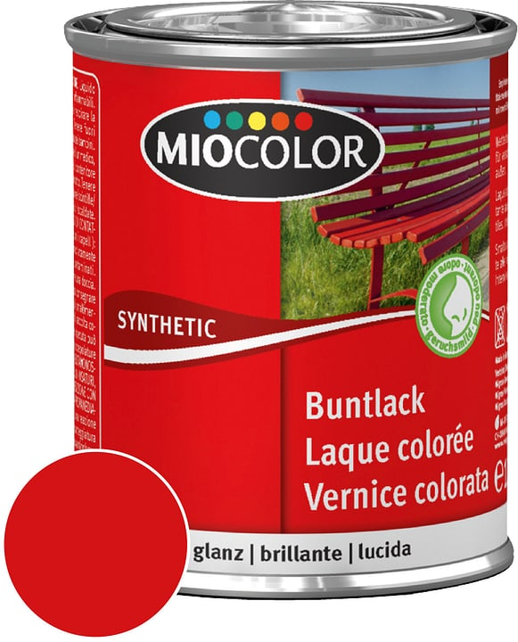 Synthetic Vernice colorata lucida Rosso fuoco 750 ml Miocolor 661419800000 Contenuto 750.0 ml Colore Rosso fuoco N. figura 1