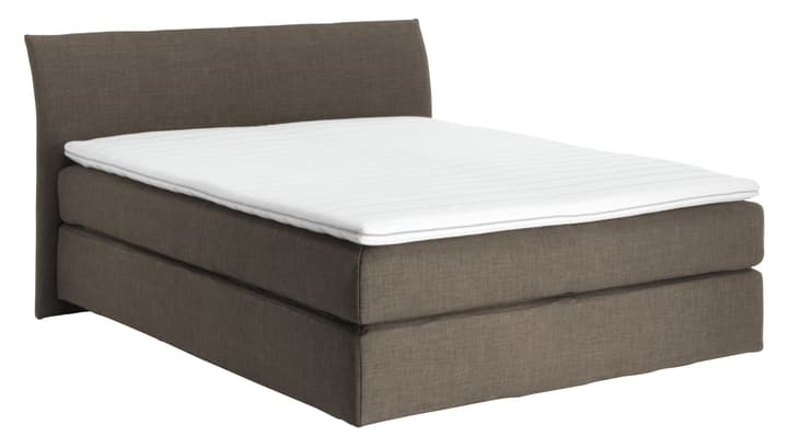 NAVIER Lit Boxspring 403482500000 Dimensions L: 160.0 cm x P: 200.0 cm Couleur Boue Photo no. 1