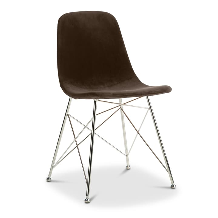 SEDIA Chair 366169700000 Colore Marrone scuro Dimensioni L: 45.0 cm x P: 41.5 cm x A: 84.5 cm N. figura 1