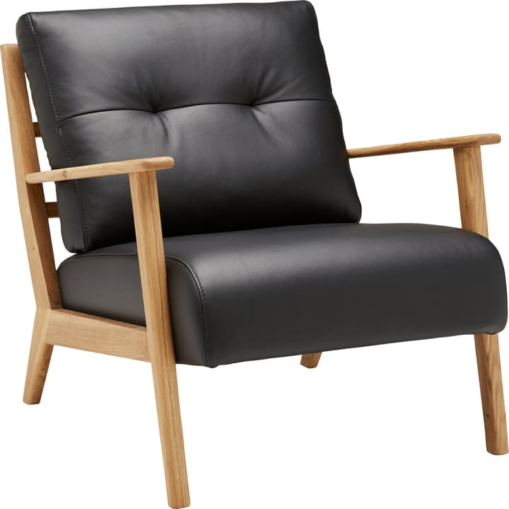 FAUST Sessel 402467007020 Grösse B: 76.0 cm x T: 80.0 cm x H: 78.0 cm Farbe Schwarz Bild Nr. 1