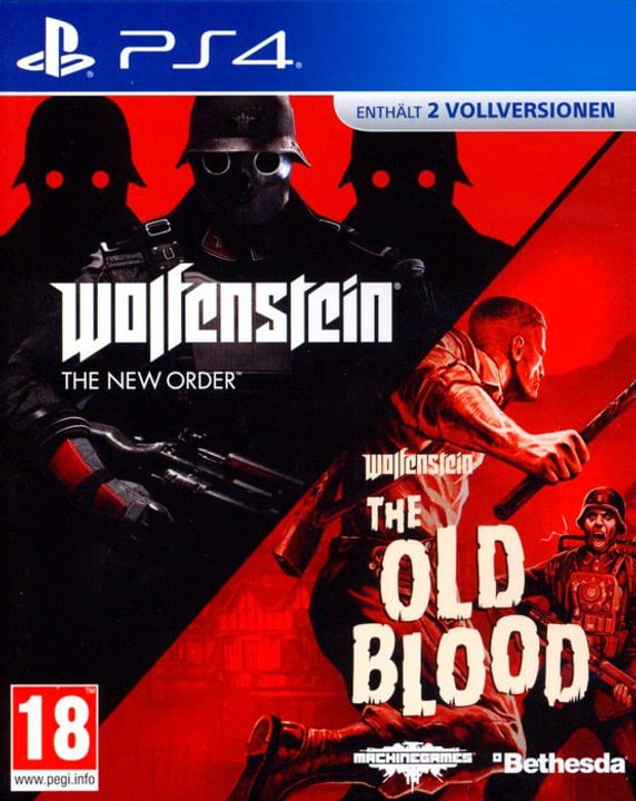 PS4 - Wolfenstein: The New Order & The Old Blood D Box 785300132642 Photo no. 1