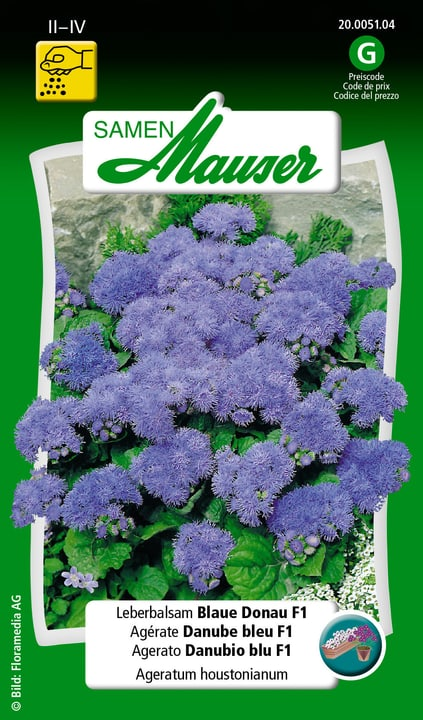 Leberbalsam Blaue Donau F1 Saat Samen Mauser 650116901000 Inhalt 0.05 g (ca. 30 Pflanzen oder 2 m² ) Bild Nr. 1