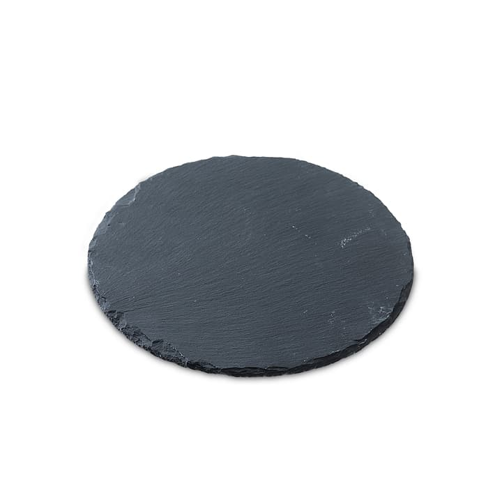 PLAQUE EN ARDOISE ronde 396000557400 Dimensions L: 25.0 cm x P: 25.0 cm x H: 0.4 cm Couleur Noir Photo no. 1