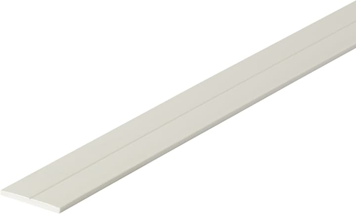 Flachstange 2 x 23.5 mm PVC weiss 1 m alfer 605114100000 Bild Nr. 1