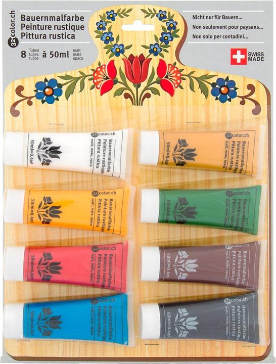 Image of 321Color Bauernmalfarbe matt 8 Tuben à 50ml