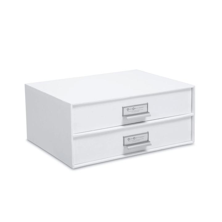 BIGSO CLASSIC Contenitore cassetti 386069100000 Dimensioni L: 25.0 cm x P: 33.5 cm x A: 14.0 cm Colore Bianco N. figura 1