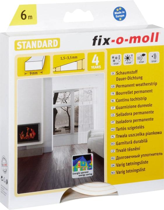 Schaumstoff-Dauerdichtung 9 x 4 mm, 6 m Fix-O-Moll 673002400000 Farbe Weiss Bild Nr. 1