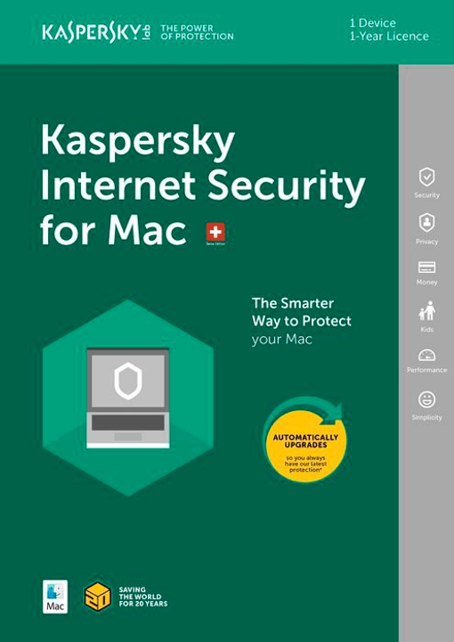 MAC - Internet Security (1 PC) Kaspersky 785300130269