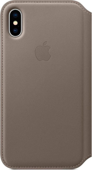 Leather Folio iPhone X Taupe Wallet Apple 785300130110 N. figura 1