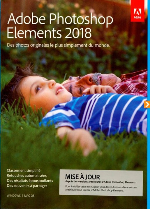PC/Mac - Photoshop Elements 2018 Upgrade (F) Physique (Box) Adobe 785300130256 Photo no. 1