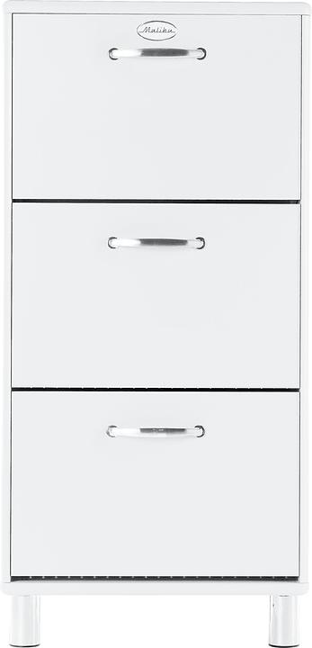 MALIBU Scarpiera 407326800000 Dimensioni L: 58.0 cm x P: 24.0 cm x A: 123.0 cm Colore Bianco N. figura 1