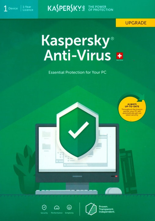 Anti-Virus (1 Device)  Upgrade [PC/Mac/Android] D/F/I Physique (Box) Kaspersky 785300137703 Photo no. 1
