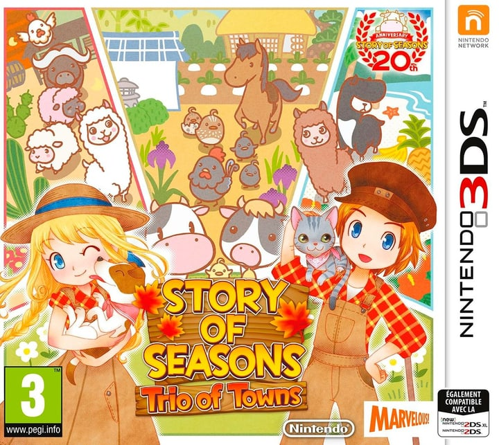 3DS - Story of Seasons: Trio of Towns Physique (Box) 785300129389 Photo no. 1