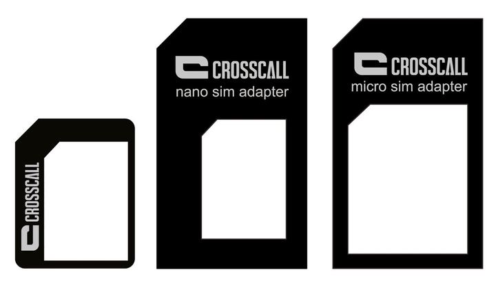 SIM Card Adaptor nano/micro/mini schwarz Adapter CROSSCALL 785300125335 Bild Nr. 1