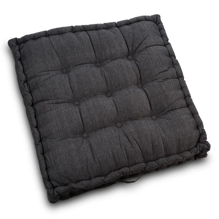 NAIROBI coussin d'assise 378054400000 Dimensions L: 80.0 cm x P: 80.0 cm x H: 10.0 cm Couleur Noir Photo no. 1