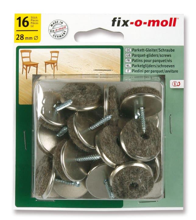 Piedini per parquet in viti 5 mm / Ø 28 mm 16 x Fix-O-Moll 607074700000 N. figura 1