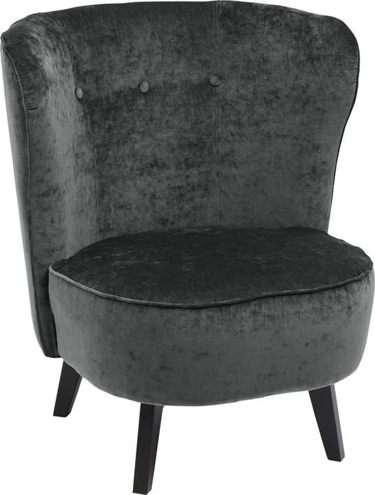 GOETHE Fauteuil 402461507084 Dimensions L: 78.0 cm x P: 77.0 cm x H: 84.0 cm Couleur Anthracite Photo no. 1
