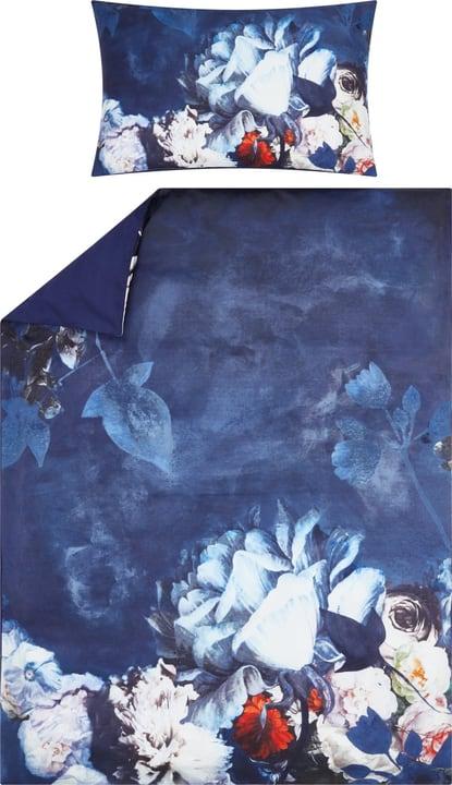EMILIA Satin Bettwäschegarnitur 451196314440 Farbe Blau Grösse B: 160.0 cm x H: 210.0 cm Bild Nr. 1