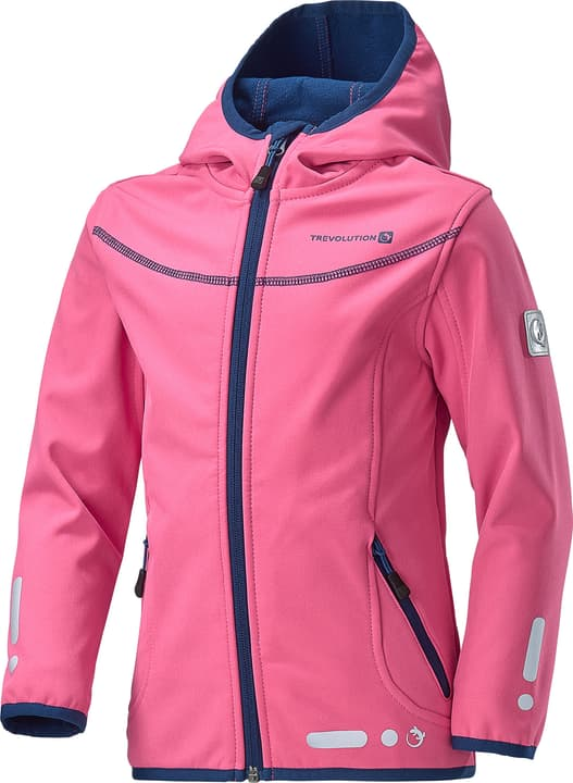 Veste softshell pour fille Trevolution 472332811029 Couleur magenta Taille 110 Photo no. 1