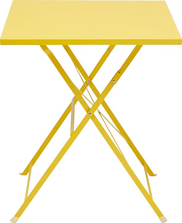 PAGAN Klapptisch 408005700050 Grösse B: 60.0 cm x T: 60.0 cm x H: 70.0 cm Farbe Gelb Bild Nr. 1
