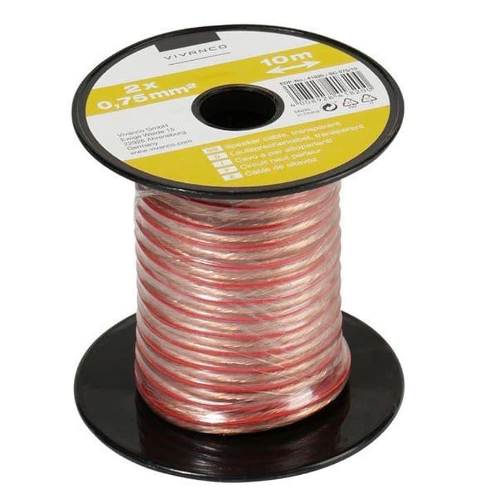 Lautsprecherkabel auf Minispule, 2x 0.75mm², transparent, 10m Vivanco 770810500000 Bild Nr. 1