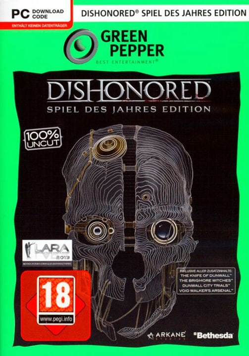 PC - Green Pepper: Dishonored GotY-Edition Box 785300122505 Bild Nr. 1