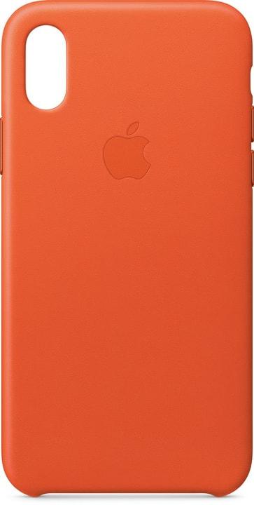 iPhone X Leather Case Bright Orange Apple 785300135053 Bild Nr. 1