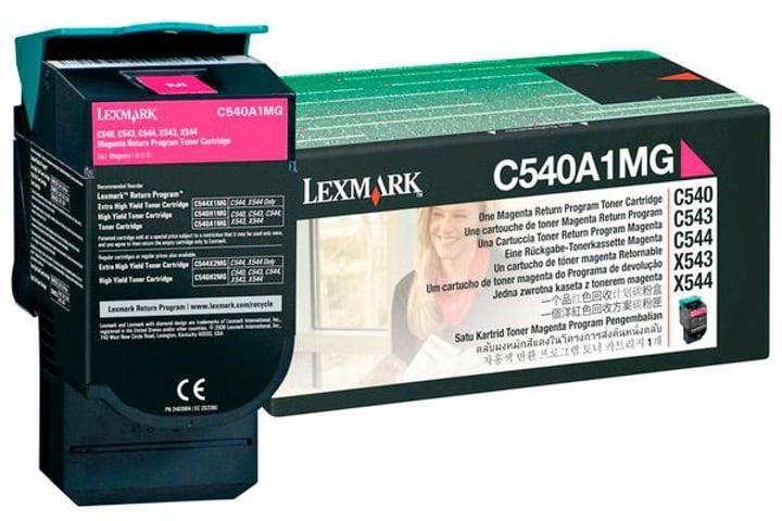 C540A1MG Return cartuccia Toner magenta Cartuccia toner Lexmark 785300126676 N. figura 1