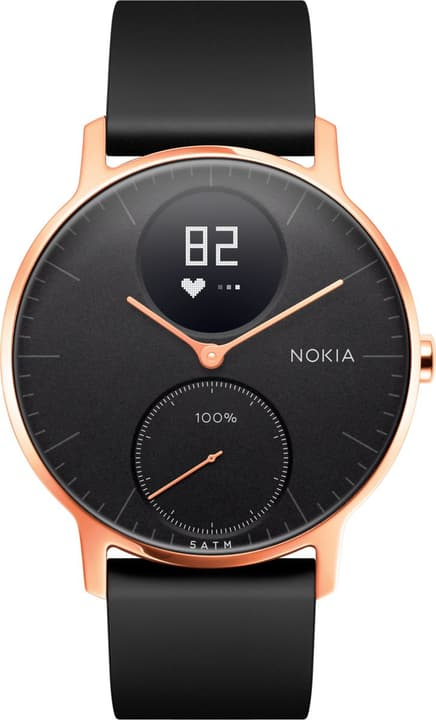 Steel HR (36mm) Rose Gold / Black Silicone Wristband Special Edition Nokia 785300134672 Bild Nr. 1
