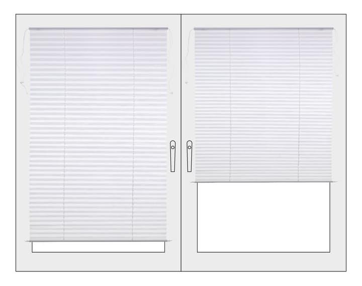 BASIC Plissee 430741304510 Farbe Weiss Grösse B: 45.0 cm x H: 130.0 cm Bild Nr. 1