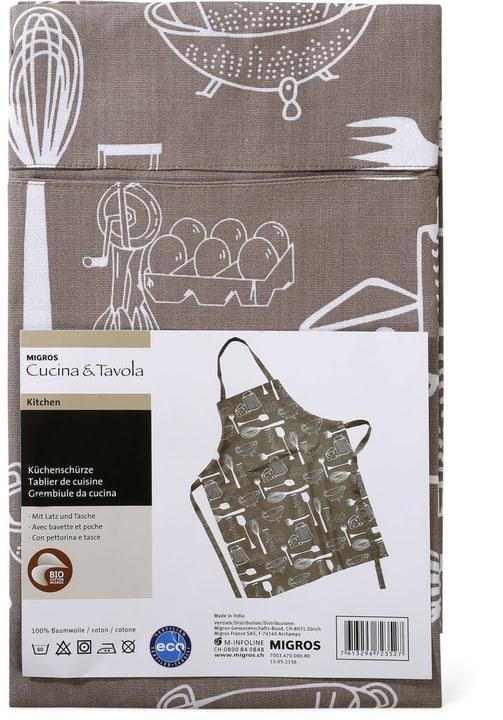 Grembiule da cucina Cucina & Tavola 700347000080 Colore Grigio Dimensioni L: 70.0 cm x A: 90.0 cm N. figura 1