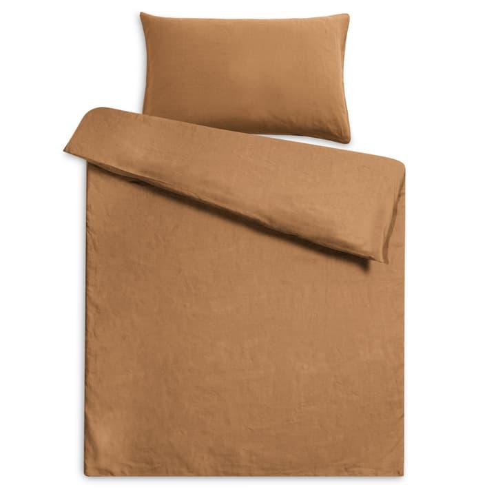 LINEN Federa per cuscino lino 376073310964 Dimensioni L: 100.0 cm x L: 65.0 cm Colore Marrone N. figura 1
