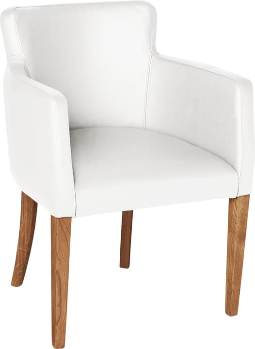 MORISANO Chaise 402358200010 Dimensions L: 56.0 cm x P: 46.0 cm x H: 79.0 cm Couleur Blanc Photo no. 1
