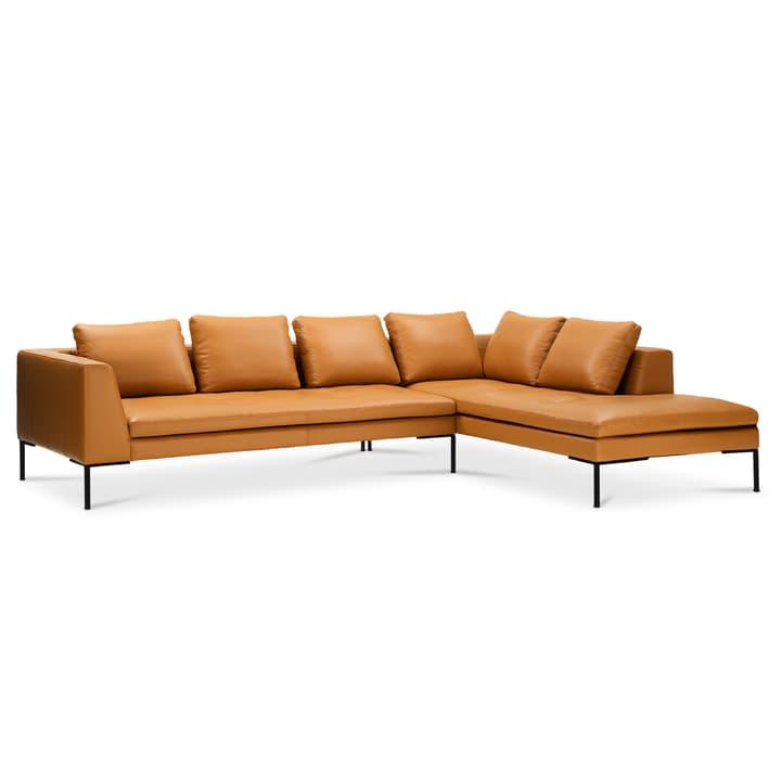 BRANDON Canapé d'angle 3pl/Rec 366125750255 Dimensions L: 319.0 cm x P: 230.0 cm x H: 86.0 cm Couleur Cognac Photo no. 1