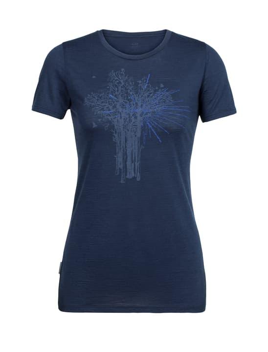 Spector Shine T-shirt à manches courtes pour femme Icebreaker 477075200343 Couleur bleu marine Taille S Photo no. 1