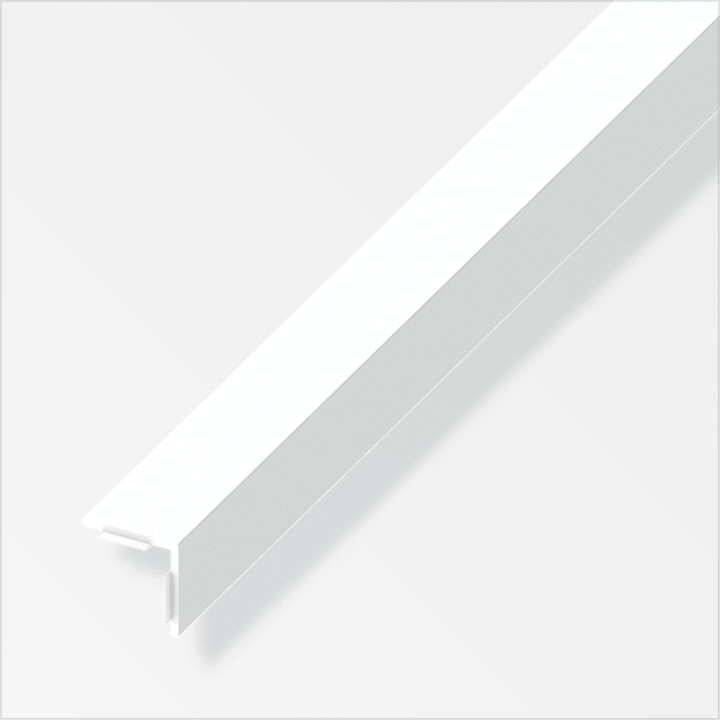 Winkel-Profil gleichschenklig 1 x 25 x 25 mm PVC weiss 1 m sk alfer 605141300000 Bild Nr. 1