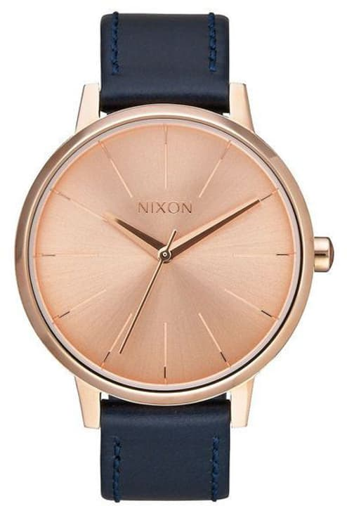 Kensington Leather Rose Gold Navy 37 mm Montre bracelet Nixon 785300137040 Photo no. 1