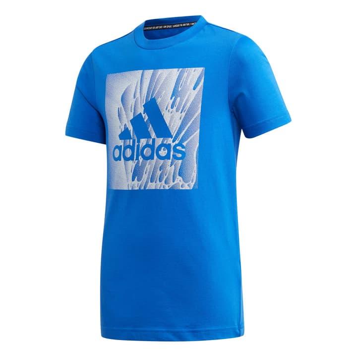 Must Haves Box Tee Shirt pour garçon Adidas 466939317640 Couleur bleu Taille 176 Photo no. 1