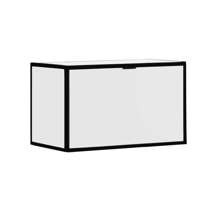 SEVEN Rabat d'étagère avec couvercle Edition Interio 360983900000 Dimensions L: 60.0 cm x P: 38.0 cm x H: 35.0 cm Couleur Blanc Photo no. 1