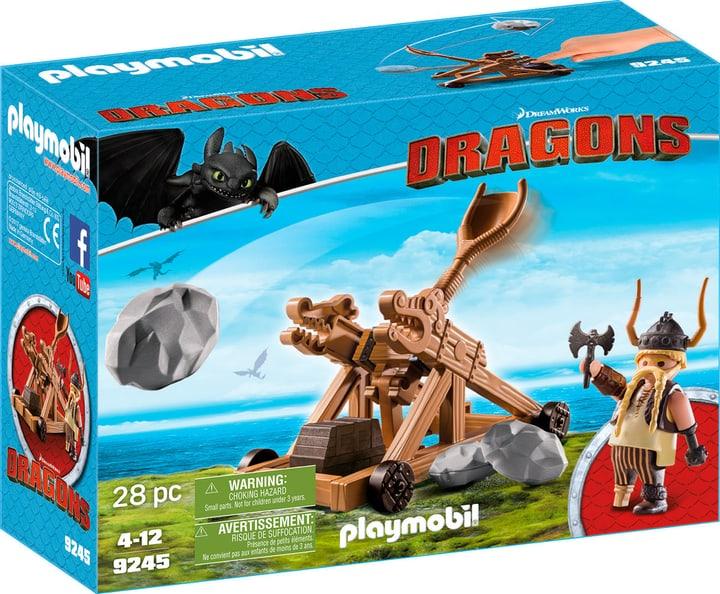 Playmobil Dragons Gueulfor avec catapulte 9245 746086300000 Photo no. 1