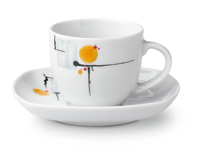 SUNRISE Espressotasse mit Unterteller Cucina & Tavola 700155100001 Farbe Multicolor Grösse B: 11.2 cm x H: 7.4 cm Bild Nr. 1
