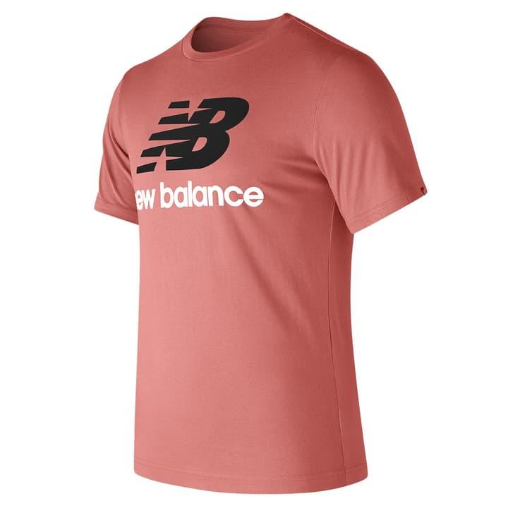 Essentials Stacked Logo Tee Herren-T-Shirt New Balance 462383300652 Farbe lachs Grösse XL Bild-Nr. 1
