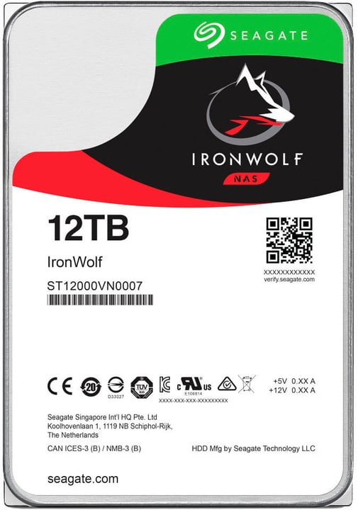 "IronWolf 12To disque dur interne SATA 3.5"" HDD NAS Seagate 785300130493 Photo no. 1"