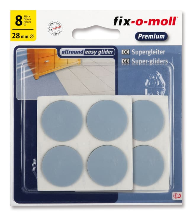 Piedini universale 1.5 mm / Ø 28 mm 8 x Fix-O-Moll 607077900000 N. figura 1
