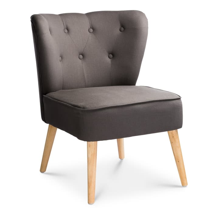POPPY Sessel 360062270902 Farbe Dunkelgrau Grösse B: 62.0 cm x T: 60.0 cm x H: 80.0 cm Bild Nr. 1