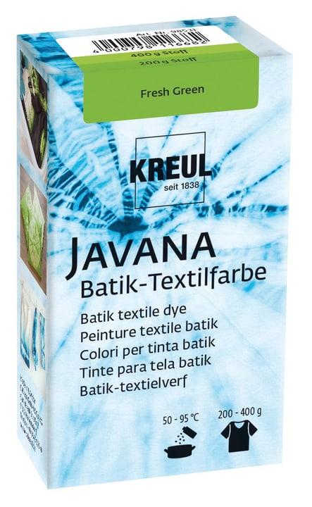 Peinture textile batik vert 666444600000 Photo no. 1