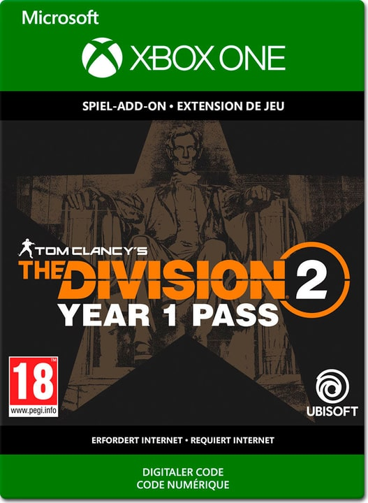 Xbox One - Tom Clancy's The Division 2: 1 Year Pass Download (ESD) 785300142562 N. figura 1