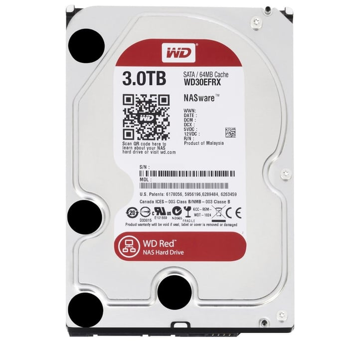 Red 3TB NAS SATA HDD NAS Western Digital 785300124386 N. figura 1