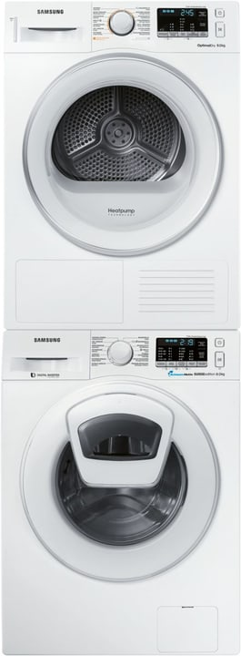 WW80K5400WW/WS - DV80M5010IW/WS AddWash (Tour de lavage 7) Tour de lavage Samsung 717224100000 Photo no. 1