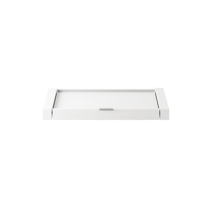 MILO Support à tiroir 364047227802 Dimensions L: 99.0 cm x P: 53.0 cm x H: 6.0 cm Couleur Blanc Photo no. 1